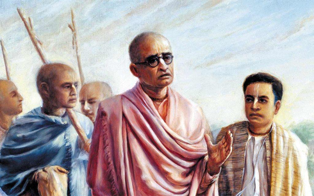 Шрила Бхактисиддханта Сарасвати и Абхай Чаран Де