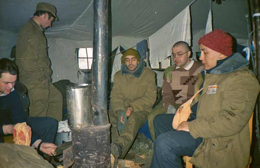 Палатка седсанчасти 129-го МСП