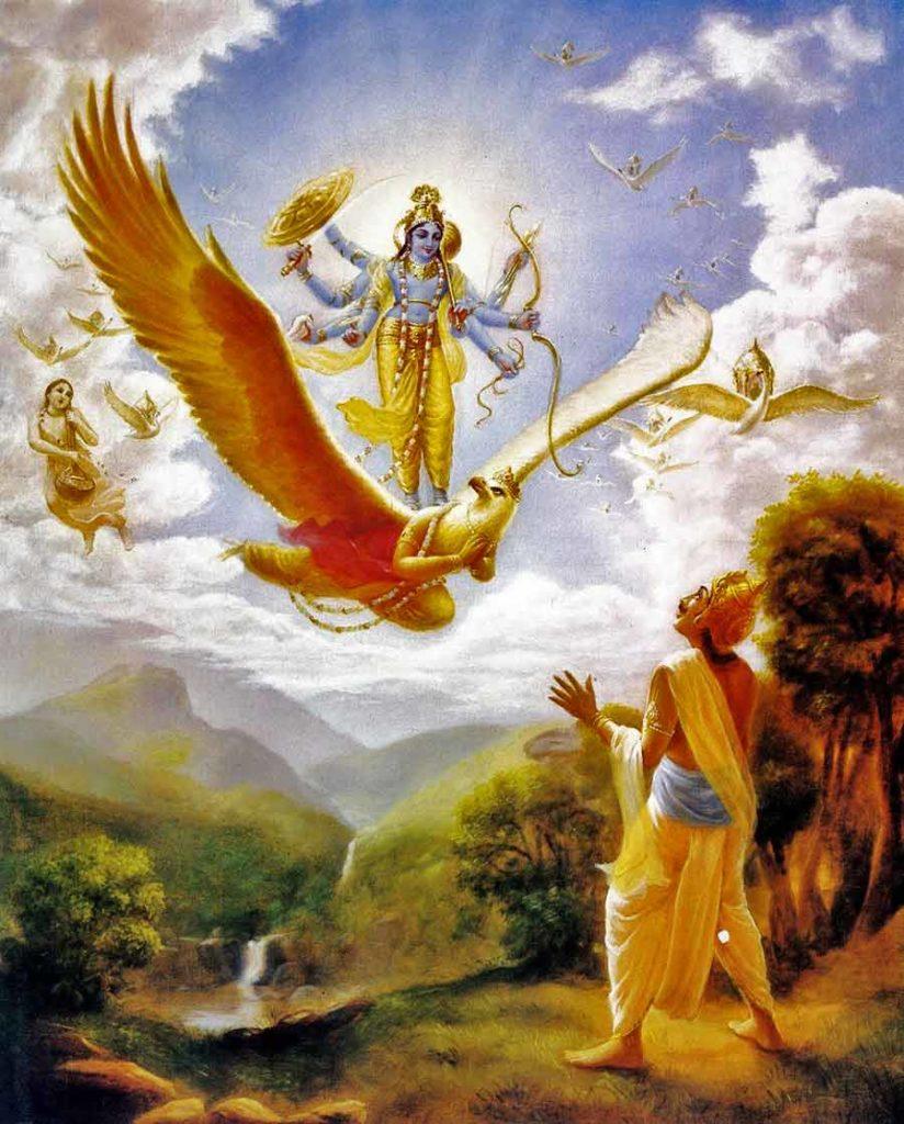 Господь Вишну на Гаруде